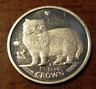 Isle of Man 1989 Platinum 1/25 oz 1/25 Crown Persian Cat Jewelry Removed