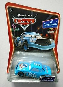 DISNEY CARS DIECAST SUPERCHARGED DINOCO CHICK HICKS NEW ON CARD.RARE.