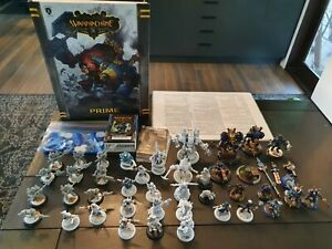 Warmachine Cygnar Bulk Lot ~45 minis, book, tokens, faction pack, cards