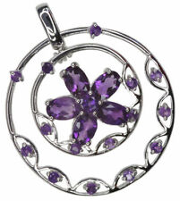 Flowers Plants Amethyst Fine Necklaces & Pendants