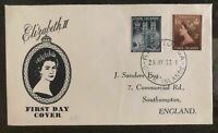 1953 Rarotonga Cook Islands First day Coronation cover FDC Queen Elizabeth II Q2