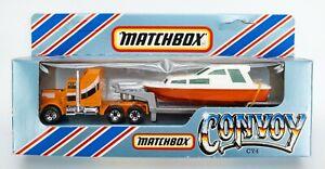 1983 Matchbox Convoy CY4 Kenworth Boat Transporter ORANGE / SILVER