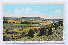 Old postcard WEST BRANCH VALLEY ON SUSQUEHANNA TRAIL, MUNCY & WILLIAMSPORT, PA