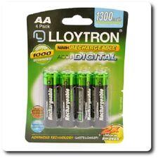 Lloytron B012 Recargable Batería de NiMH accupower-AA 1300 mAh 4 Pack