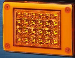12/24V AMBER LED Jumbo Tail light Insert, Truck,Bus,Ute,Trailer,Caravan,Kenworth