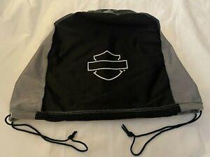 "HARLEY DAVIDSON Motorcycle Helmet Bag Cover Black/Gray Approx. 17""X12"""