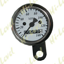 Custom Mini Speedo 48mm 2:1 MPH White face Stainless Body Cable Drive BC20939 T