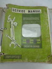 International Factory Service Manual CrawlerTractor Chassis 14 15 18 20 ISS-1033