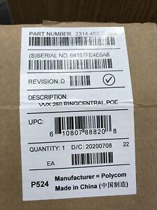 Polycom VVX 250 RingCentral 4-Line Desktop Business IP Phone 2314-48820-025 POE