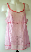 Victoria's Secret Angels Pink Cotton and Lace Sweet Girly Sleep Cami Top L