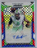 TYRE BRADY - 2019 Prizm Draft Picks Red White Blue Prizm SP AUTO /99 - Marshall