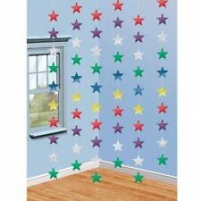 6 Strings of Stars Foil Decorations NEW