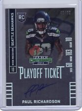 2014 Panini Contenders Playoff Ticket Autograph #228.2 Paul Richardson RC 45/99