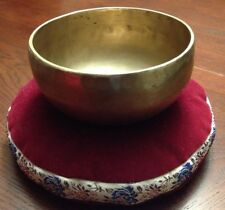 collectible tibetan singing bowl with red cushion diameter 5 in heart chakra