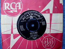 "ELVIS PRESLEY-KISS ME QUICK/SOMETHING BLUE-U.K.-45 RPM 7"""