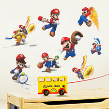 Cartoons Super Mario Wall Stickers Mural Art 3D Decals Wallpaper Decor Kid Room