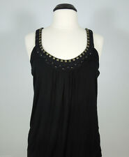GUESS JEANS Embellished Racerback Tunic Top size M