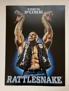 "WWF WWE Poster Print Stone Cold Steve Austin 100% Pure Rattlesnake 12"" x 16"""