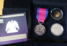 2015 GOLD PROOF TDC DOUBLE CROWN + SILVER CROWN + MEDAL BOX + COA WATERLOO