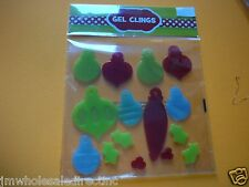 Merry Christmas Window Gel Clings Standard Sharps Ornaments Holiday Decorations