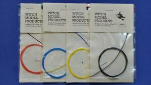 1/24 1/25 SCALE SPARK PLUG LEADS SET OF  4  COLOURS RED, BLUE, YELLOW, + BLACK