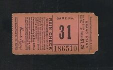 VINTAGE 1940s MLB BROOKLYN DODGERS BASEBALL TICKET STUB EBBETS FIELD - Game #31