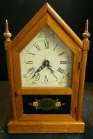 "Vintage Converted Seth Thomas Sharon Steeple Clock 14.38"" x 9"" x 4.88"" Good Cond"