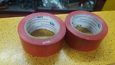 "PACK OF 2 WARNING TAPE TUK COLOR RED 2"" X 108 FT"