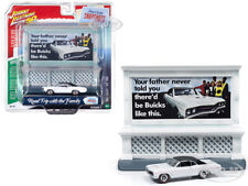 """1967 BUICK GS 400 & """"BUICK"""" BILLBOARD 1/64 CAR BY JOHNNY LIGHTNING JLAC001-BUICK"""