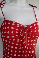 Red Spotty bias Dress vintage dance style Party Salsa Hols 30s 40s S Lipsy