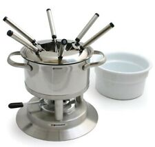 Swissmar Arosa 11Pc Stainless Fondue Set