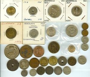 MIXED WORLD COINS ~ 31 PIECE LOT ~ SOME SILVER ~
