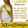 30TH BIRTHDAY GIRL PARTY SASH NIGHT OUT ACCESSORY FUN GIRLS SASHES THIRTY New* p