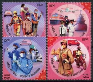 India 2020 MNH Medical Stamps Corona Tribute to Frontline 4v Set