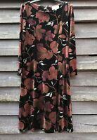 JAMES MEADE Beautiful Cotton Velvet Floral Dress UK12 EU40 Worn Once