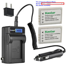 Kastar Battery LCD AC Charger for Olympus Li-80B Battery Olympus Li-80C Charger
