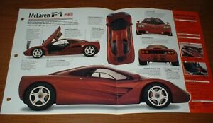★★1995 MCLAREN F1 V12 ORIGINAL IMP BROCHURE SPECS INFO 95 1992-1997★★