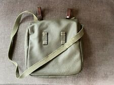 Vintage Swiss Army Military Bread Bag Shoulder ~1985 Leather Switzerland