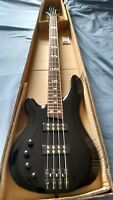 NEW Left Handed 4 String Electric Bass Guitar With Active Pick ups Black