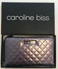 Caroline Biss Metalic Gray Wallet - Women's Zip Accordion Wallet [In Box]
