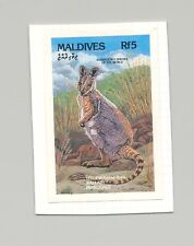 Maldives #1861 Wallaby, Animals 1v Imperf Proof on Card