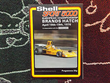 1976 BRANDS HATCH PROGRAMME 19/4/76 - SHELLSPORT F5000 EUROPEAN CHAMPIONSHIP