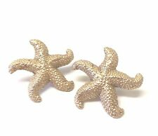 Vintage Fabulous 1980's Signed Yves Saint Laurent Starfish Clip On Earrings