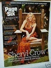 #3012 New York Post Page Six Magazine July 20, 2008 On Cover Sheryl Crow