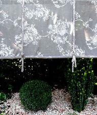 Raff Gardine FRANZI 160x110 Braun Raff Rollo französischer Landhausstil Curtain