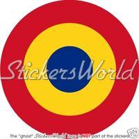 ROMANIA Romanian Air Force Roundel Vinyl Sticker, Decal