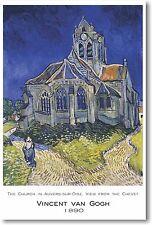 Church in Auvers-sur-Oise - Vincent Van Gogh 1890 - NEW Fine Arts Poster