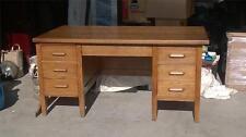 Solid Oak Vintage Executive Designer Desk from Turn of Century 60 x 34 x 30.5
