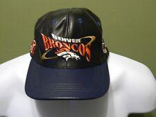 NFL DENVER BRONCOS LEATHER HAT PRO ELITE Football cap,adjustable Vintage hat