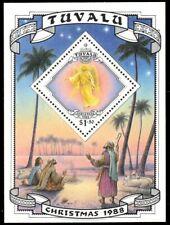 "TUVALU 514 - Christmas ""Heraldic Angel"" Souvenir Sheet (pa94521)"